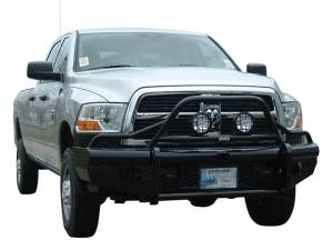 Ranch Hand Bumpers - Dodge RAM 2500/3500 2010-2017 - Ranch Hand - Ranch Hand BTD101BLRS Legend Bullnose Front Bumper with Sensor Holes Dodge 2500/3500 2010-2017