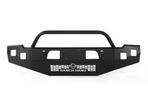 Ranch Hand Bumpers - Ranch Hand - Ranch Hand BHC151BMT Horizon Series Front Bumper with Push Bar Chevy Silverado 2500HD/3500 2015-2018