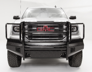 Truck Bumpers - Fab Fours Black Steel - GMC Sierra 1500 2016-2018
