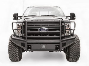 Truck Bumpers - Fab Fours Black Steel Elite - Ford F250/F350 2017-2018