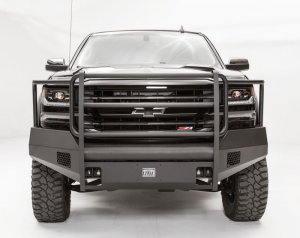 Truck Bumpers - Fab Fours Black Steel Elite - Chevy Silverado 1500 2016-2017