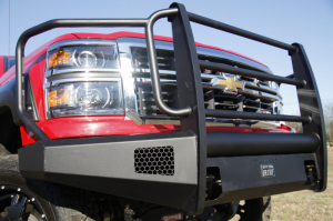 Truck Bumpers - Fab Fours Black Steel Elite - Chevy Silverado 1500 2014-2015