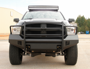 Truck Bumpers - Fab Fours Black Steel Elite - Dodge RAM 1500 2013-2018
