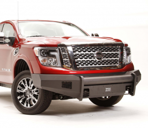 Truck Bumpers - Fab Fours Black Steel Elite - Nissan Titan 2004-2015