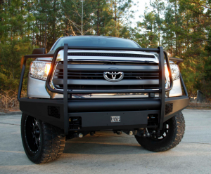 Truck Bumpers - Fab Fours Black Steel Elite - Toyota Tundra 2014-2018