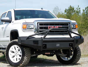 Truck Bumpers - Fab Fours Black Steel Elite - GMC Sierra 1500 2014-2015