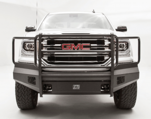 Truck Bumpers - Fab Fours Black Steel Elite - GMC Sierra 1500 2016-2017