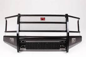 Truck Bumpers - Fab Fours Black Steel - GMC Sierra 1500 2007-2013