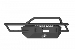 Truck Bumpers - Road Armor Sahara - Road Armor - Road Armor SA4154B Front Sahara Winch Bumper Pre-Runner Guard Black Road Armor Dodge 1500 2015-2017 Rebel