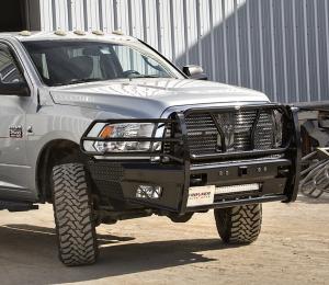 Frontier Truck Gear - Pro Series Front Bumpers - Frontier Gear - Frontier Gear 130-41-0007 Pro Front Bumper with Sensor Holes Light Bar Compatible Dodge RAM 2500/3500 2010-2018