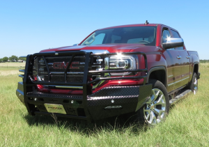 Front Bumper Replacement - GMC - Frontier Gear - Frontier Gear 300-31-6008 Front Bumper No Sensor Holes GMC Sierra 1500 2016-2018