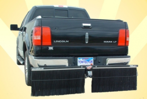 "Towtector Premium Rock Guard (Steel Frame with 2 brush sets) - Full Size Trucks (78"" Rock Guard System) - Towtector - Towtector 27818-FT Premium Brush System 78"" Wide x 18"" Height for 2"" Receiver Ford"