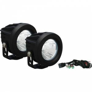 "Bumper Fog Lights - Vision X - Vision-X XIL-OPR160KIT 4"" Optimus Round LED Fog Lights 10W 160 Degree Fog Beam - Pair"