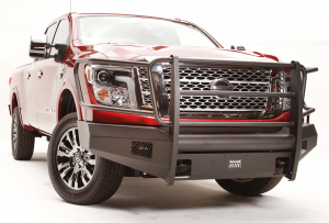 Truck Bumpers - Fab Fours Black Steel Elite - Nissan Titan 2016-2018