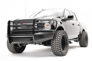 Truck Bumpers - Fab Fours Black Steel - Ford F150 2018-2019