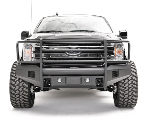Truck Bumpers - Fab Fours Black Steel Elite - Ford F150 2018-2019