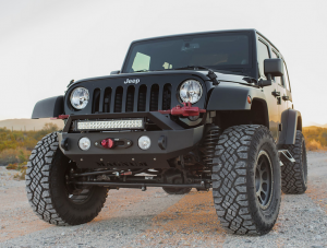 Jeep Bumpers - ICI Innovative Creations - ICI FBM22JPN-RT Winch Front Bumper with RT-Bar Jeep Wrangler JL 2018-2019