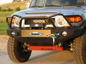 Expedition One FJCFB100_WY Trail Series WyoOtto Front Bumper for Toyota FJ Cruiser 2007-2010 - Bare Steel