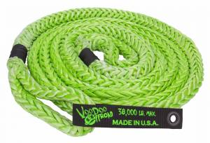 "Recovery - VooDoo Offroad - VooDoo Offroad - VooDoo Offroad 1300001 7/8"" x 20' Truck/Jeep Kinetic Recovery Rope Green with rope bag"
