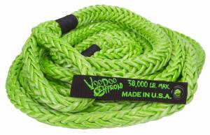 "Recovery - VooDoo Offroad - VooDoo Offroad - VooDoo Offroad 1300002 7/8"" x 30' Truck/Jeep Kinetic Recovery Rope Green with rope bag"