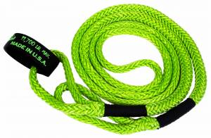 "Recovery Tow Ropes and Winch Lines - VooDoo Offroad Recovery Ropes - VooDoo Offroad - VooDoo Offroad 1300004 1/2"" x 16' UTV Kinetic Recovery Rope Green"