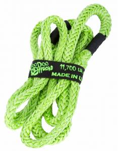 "Recovery Tow Ropes and Winch Lines - VooDoo Offroad Recovery Ropes - VooDoo Offroad - VooDoo Offroad 1300006 1/2"" x 10' UTV Kinetic Recovery Rope Green"