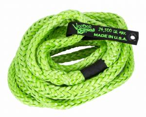 "Recovery Tow Ropes and Winch Lines - VooDoo Offroad Recovery Ropes - VooDoo Offroad - VooDoo Offroad 1300008A 3/4"" x 20' Truck/Jeep Kinetic Recovery Rope Green with rope bag"
