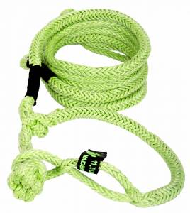"Recovery Tow Ropes and Winch Lines - VooDoo Offroad Recovery Ropes - VooDoo Offroad - VooDoo Offroad 1300012 1/2"" x 20' UTV Kinetic Recovery Rope with (2) Soft Shackle Ends Green"
