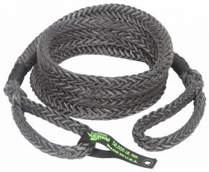 "Recovery Tow Ropes and Winch Lines - VooDoo Offroad Recovery Ropes - VooDoo Offroad - VooDoo Offroad 1300027 7/8"" x 30' Truck/Jeep Kinetic Recovery Rope Black with rope bag"