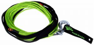 "Recovery Tow Ropes - VooDoo Offroad - VooDoo Offroad - VooDoo Offroad 1400001 1/4"" x 50' UTV Winch Line Green"