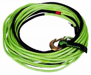 "Recovery Tow Ropes and Winch Lines - VooDoo Offroad Recovery Ropes - VooDoo Offroad - VooDoo Offroad 1400003A 3/8"" x 80' Truck/Jeep Winch Line Green"