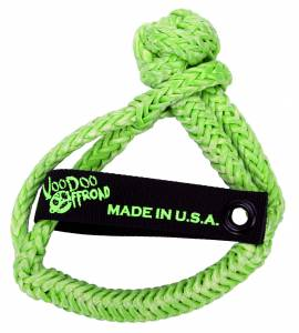 "Recovery Tow Ropes and Winch Lines - VooDoo Offroad Recovery Ropes - VooDoo Offroad - VooDoo Offroad 1500003A 3/8"" x 7"" Soft Shackle Green"
