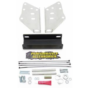"Exterior Accessories - License Plate Bracket - Performance Accessories - Performance Accessories PA5903 3"" Rear Bumper Raising Kit with OEM Trailer Hitch 2005-2015"