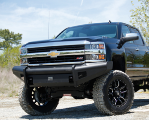 Truck Bumpers - Fab Fours Black Steel Elite - Chevy Silverado 2500HD/3500 2007-2010