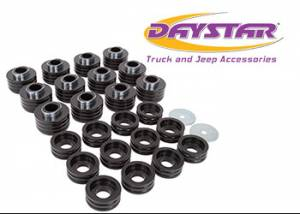 Suspension Parts - Body Mount Kits - Daystar - Daystar KF04051BK Body Mounts Black Ford Excursion 1999-2005