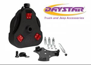 Exterior Accessories - Tire Carrier and Components - Daystar - Daystar KJ71035BK Cam Can Kit Black with Spout Jeep CJ 1946-1975