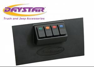Interior Accessories - Electrical Switch Panels - Daystar - Daystar KJ71040BK Jeep Wrangler JK 2007-2010 Lower Switch Panel Including 4 Switches