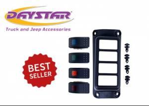 Interior Accessories - Electrical Switch Panels - Daystar - Daystar KJ71056BK Jeep Wrangler JK 2007-2018 A-Pillar Switch Pod with Switches