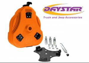 Exterior Accessories - Tire Carrier and Components - Daystar - Daystar KT71001OR Cam Can Trail Box Orange with Toyota Tire Mount Toyota FJ Cruiser 2007-2014