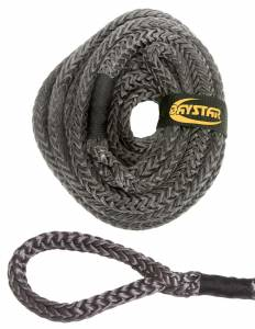 Exterior Accessories - Recovery Tow Ropes and Winch Lines - Daystar - Daystar KU10104BK 15 Foot Recovery Rope with Loop Ends and Nylon Recovery Rope Bag 1/2 x 15 Foot Black Rope
