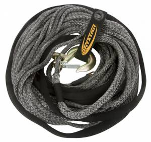 Exterior Accessories - Recovery Tow Ropes and Winch Lines - Daystar - Daystar KU10403BK 80 Foot Winch Rope with Loop End 3/8 x 80 Foot Black
