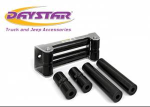 Exterior Accessories - Recovery Tow Ropes and Winch Lines - Daystar - Daystar KU70054BK Roller Fairlead Rope Rollers For Synthetic Winch Rope Black