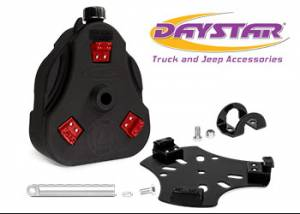 "Exterior Accessories - Tire Carrier and Components - Daystar - Daystar KU71129BK Cam Can Black 2 Gallon with 1.5"" Roll Bar Mount with Spout"