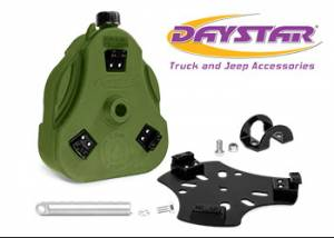 "Exterior Accessories - Tire Carrier and Components - Daystar - Daystar KU71129GN Cam Can Green 2 Gallon with 1.5"" Roll Bar Mount with Spout"