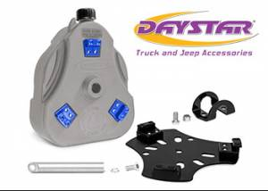 "Exterior Accessories - Tire Carrier and Components - Daystar - Daystar KU71129RB Cam Can Gray Drinking Water 2 Gallons with 1.5"" Roll Bar Mount with Spout"