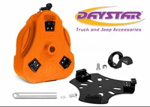 "Exterior Accessories - Tire Carrier and Components - Daystar - Daystar KU71129TB Cam Can Trail Box Orange with 1.5"" Roll Bar Mount"