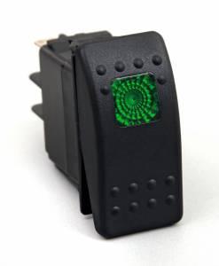 Interior Accessories - Electrical Switch Panels - Daystar - Daystar KU80012 Rocker Switch Green Light 20 AMP Single Pole