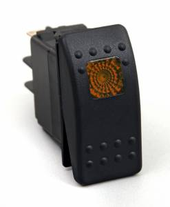 Interior Accessories - Electrical Switch Panels - Daystar - Daystar KU80013 Rocker Switch Amber Light 20 AMP Single Pole