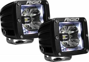 Lighting - Rigid Industries - Rigid Industries 20200 Radiance Cube Lights in Clear Pair