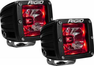 Lighting - Rigid Industries - Rigid Industries 20202 Radiance Cube Lights in Red Pair